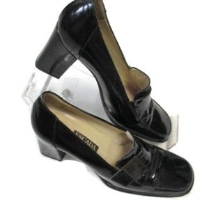 Escada Black Patent Leather Shoes 7.5 B